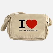 I Love My Harmonica Messenger Bag