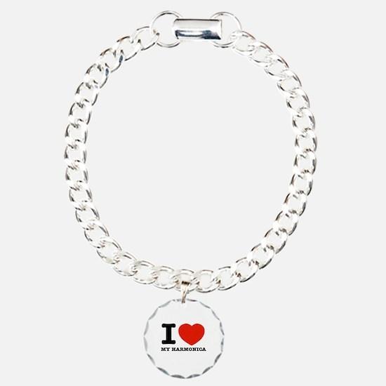 I Love My Harmonica Bracelet