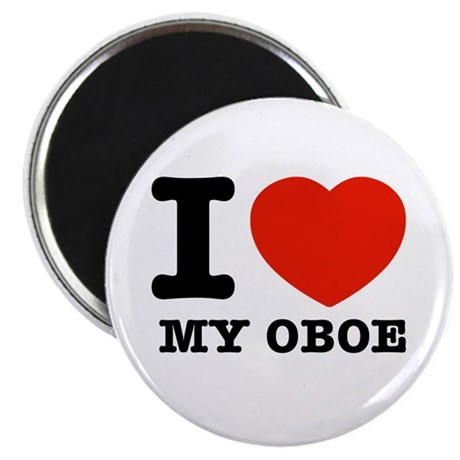 I Love My Oboe Magnet