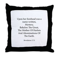 Revelation 17:5 Throw Pillow