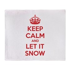 Keep calm and let it snow Throw Blanket