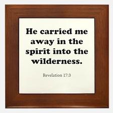 Revelation 17:3 Framed Tile