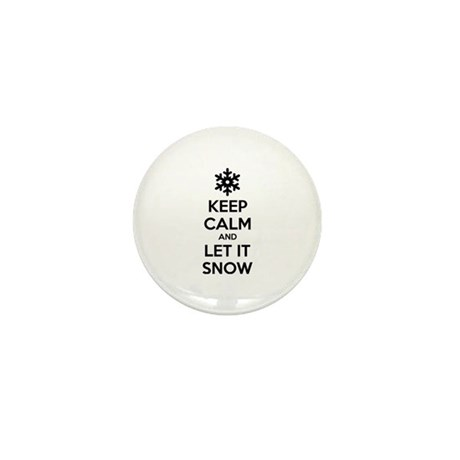 Keep calm and let it snow Mini Button (10 pack)