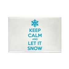 Keep calm and let it snow Rectangle Magnet (10 pac