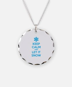 Keep calm and let it snow Necklace Circle Charm
