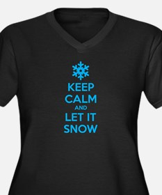 Keep calm and let it snow Women's Plus Size V-Neck