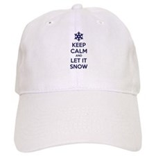 Keep calm and let it snow Baseball Cap