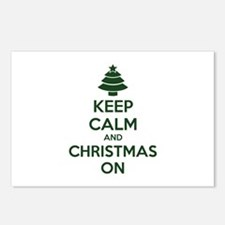 Keep calm and christmas on Postcards (Package of 8
