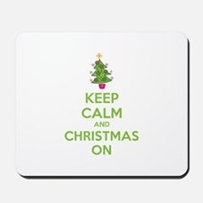 Keep calm and christmas on Mousepad