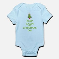 Keep calm and christmas on Infant Bodysuit