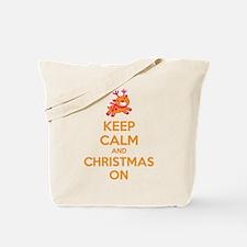 Keep calm and christmas on Tote Bag