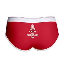 Keep calm and christmas on Women's Boy Brief