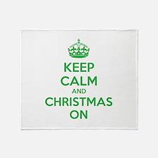 Keep calm and christmas on Throw Blanket