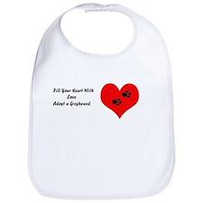 Greyhounds fill hearts w/love Bib