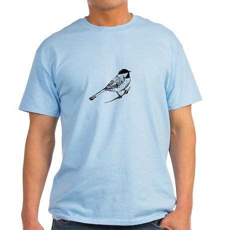 Chickadee Bird T-Shirt Light T-Shirt
