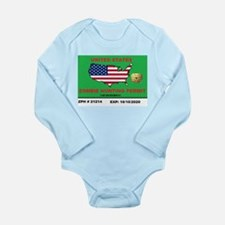 Zombie Hunting Permit Long Sleeve Infant Bodysuit