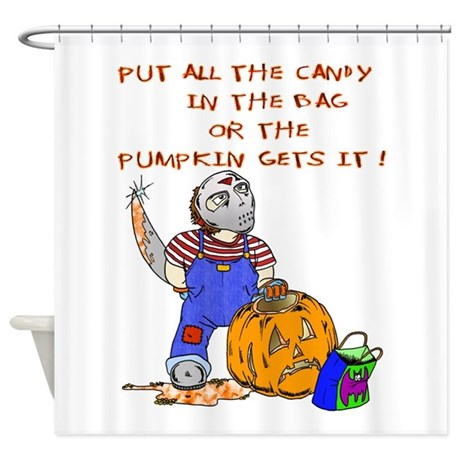 Candy or the Pumpkin Shower Curtain