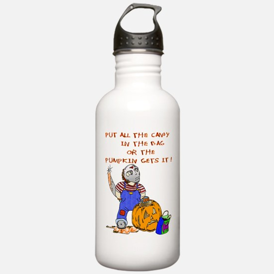 Candy or the Pumpkin Water Bottle