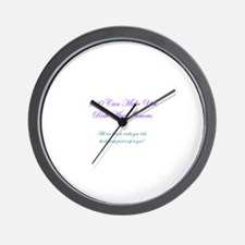 Purple/Teal Rich and Famous Wall Clock