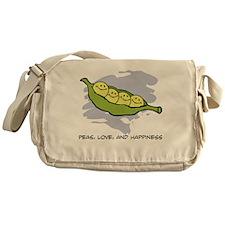 Peas, Love and Happiness Messenger Bag