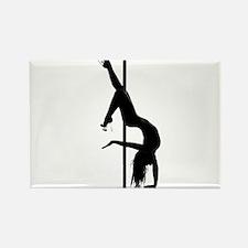 pole dancer 1 Rectangle Magnet