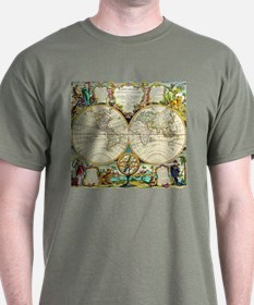 Vintage World Map T-Shirt