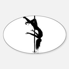pole dancer 3 Sticker (Oval)