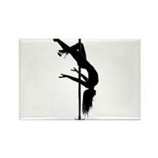 pole dancer 3 Rectangle Magnet