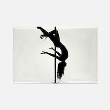 pole dancer 3 Rectangle Magnet