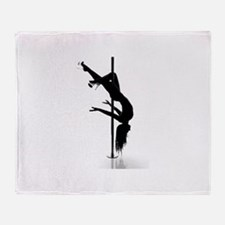 pole dancer 3 Throw Blanket