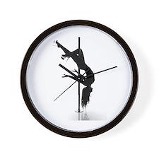 pole dancer 3 Wall Clock