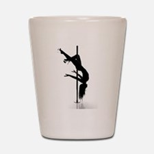 pole dancer 3 Shot Glass