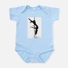 pole dancer 3 Infant Bodysuit