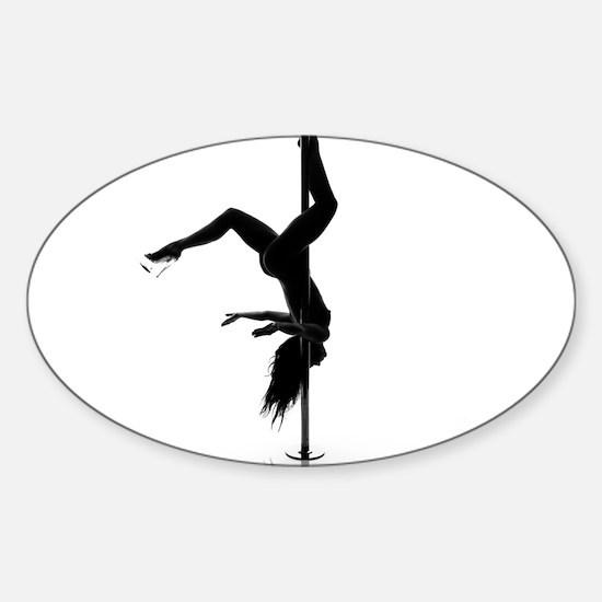 pole dancer 5 Sticker (Oval)