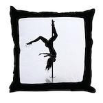 pole dancer 5 Throw Pillow