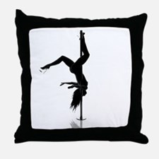 pole dancer 5 Throw Pillow