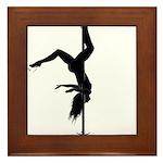 pole dancer 5 Framed Tile