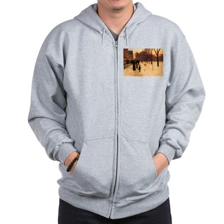 Childe Hassam Boston In Twilight Zip Hoodie
