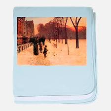 Childe Hassam Boston In Twilight baby blanket