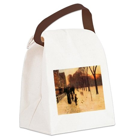 Childe Hassam Boston In Twilight Canvas Lunch Bag