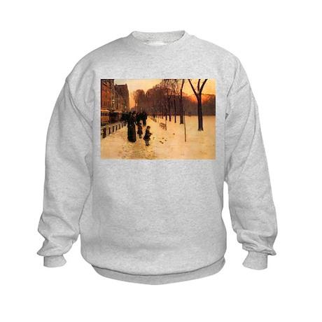Childe Hassam Boston In Twilight Kids Sweatshirt