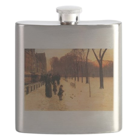 Childe Hassam Boston In Twilight Flask