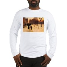 Childe Hassam Boston In Twilight Long Sleeve T-Shi