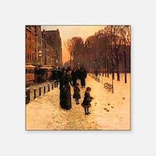 """Childe Hassam Boston In Twilight Square Sticker 3"""""""