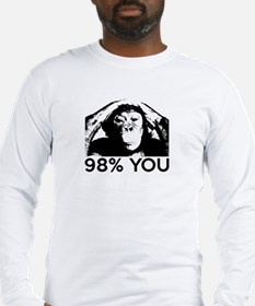 Evolution, Chimp: 98% You Long Sleeve T-Shirt