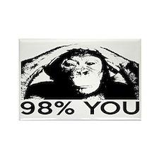 Evolution, Chimp: 98% You Rectangle Magnet