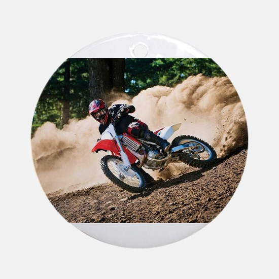 motorcycle-off-road Ornament (Round)