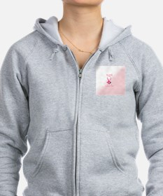 Cancer Ribbon w/Butterfly Zip Hoodie