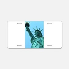 Lady Liberty Aluminum License Plate