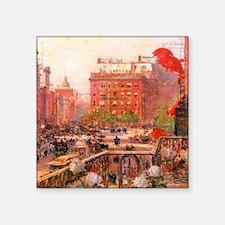 """Childe Hassam Fifth Avenue Square Sticker 3"""" x 3"""""""